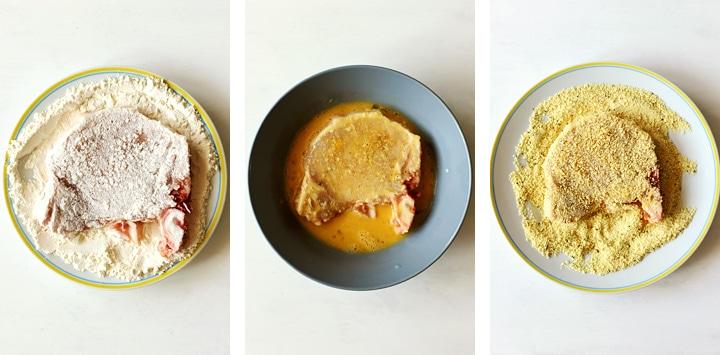 steps to bread pork chops
