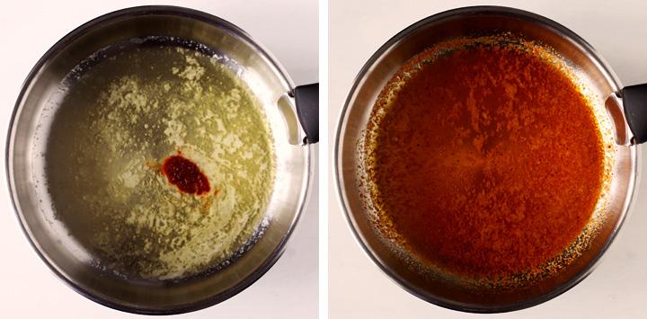 instructions sauce épicée au beurre