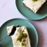 tranches de gâteau au pavot