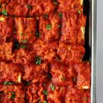 beyti kebab in baking tray