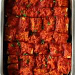beyti kebab in a pan