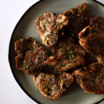 pan-seared lamb chops on plate