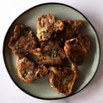 pan seared lamb chops on plate