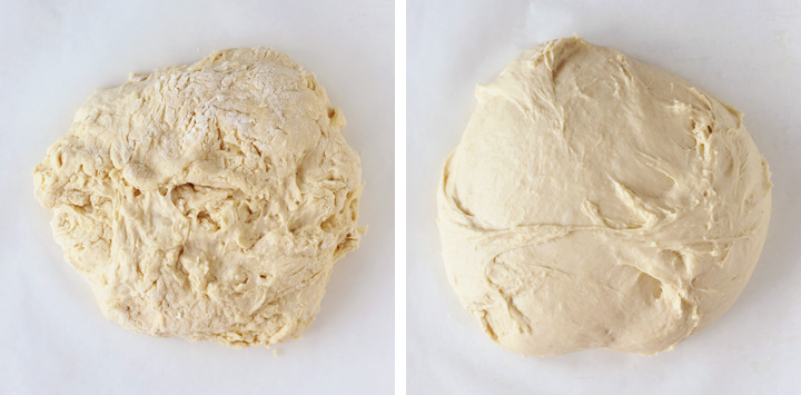 bread dough after kneading