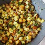 pommes de terre rissolées dans poêle