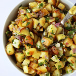 pommes de terre rissolées sur cuillère