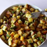 pommes de terre rissolées dans plat