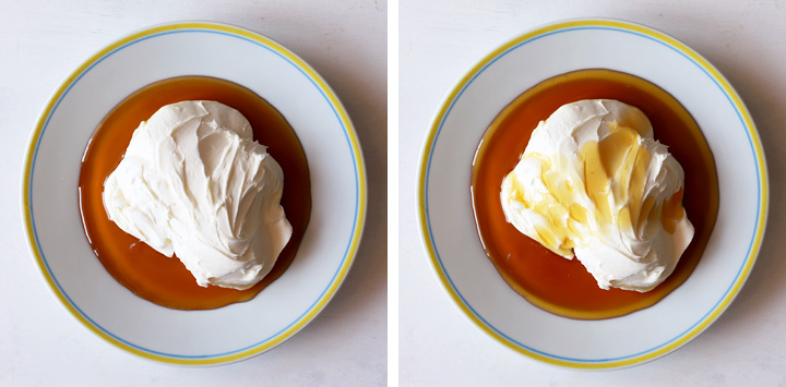 miel à tartiner sur assiette