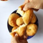 pain frit coupé en deux