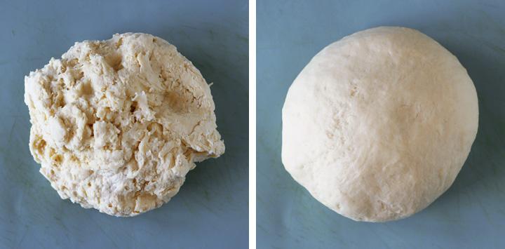 pâte à pain frit sur plan de travail