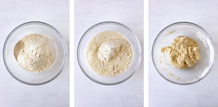 pâte à pain frit dans saladier