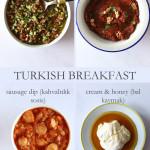 petit-déjeuner turc sur assiette
