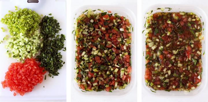 salade turque dans tupperware
