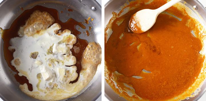 caramel sec dans poêle