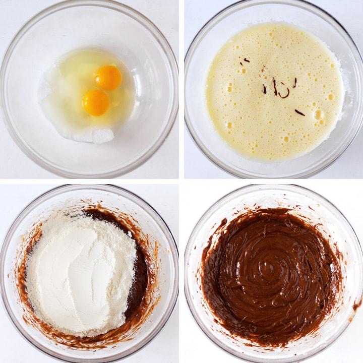 pâte à brownie dans bol