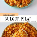bulgur pilaf served on a plate